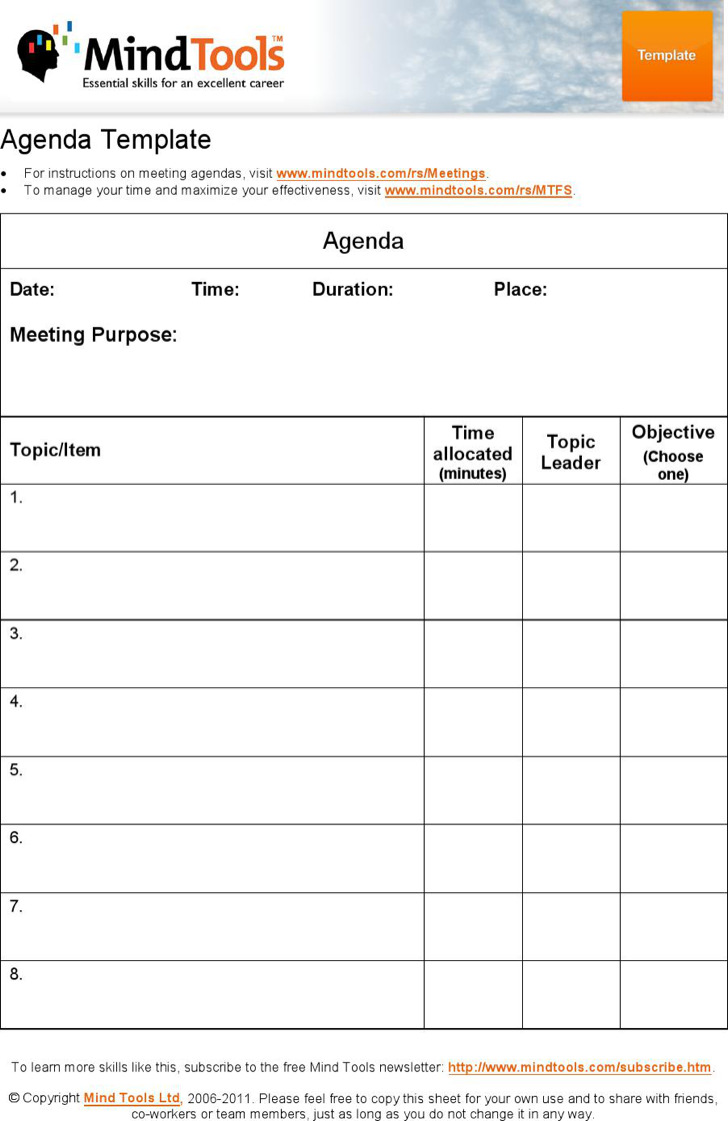Simple Company Agenda Template