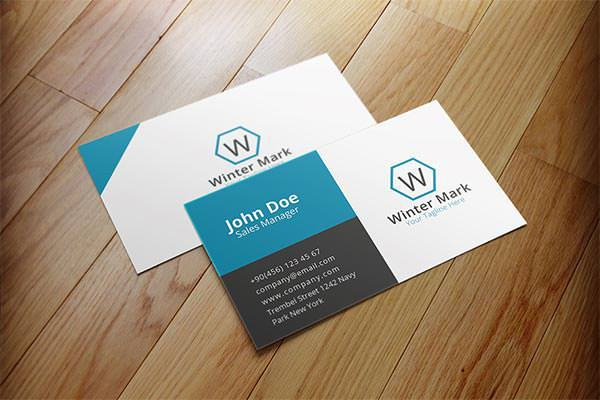 Simple Corporate Business Card Sample