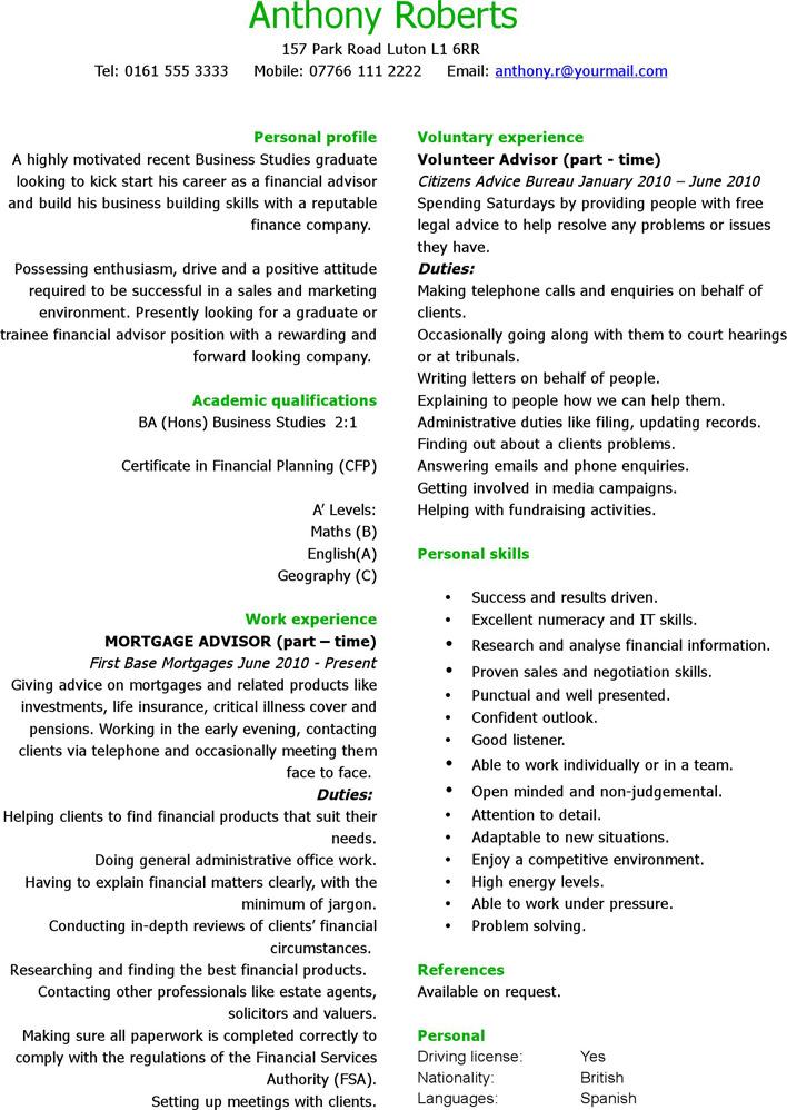 Simple CV Template 1