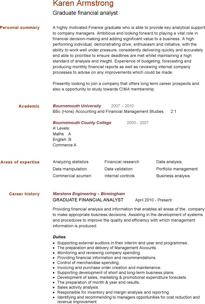 Simple CV Template 3