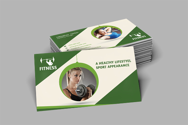 Simple Fitness Business Card Template