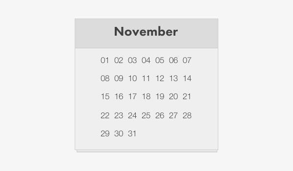 Html Calendar Template | 24 Html Calendar Templates Free Download