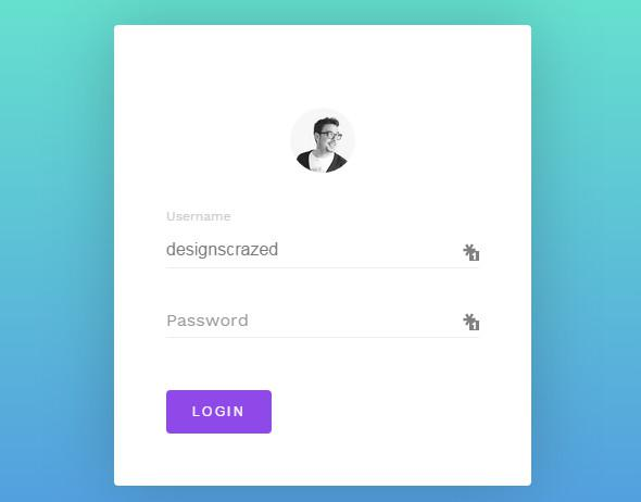 Simple HTML5 Login Form Sample Source Code