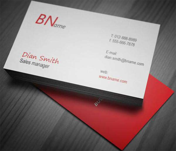 Simple Professional Businesses Card