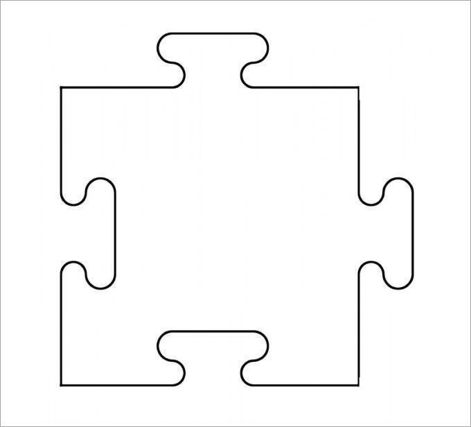 Simple Puzzle Piece Template