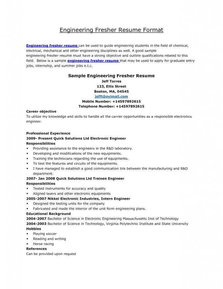 Simple Sample Academic Blank Resume Template