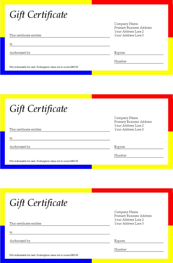 Simple Word Gift Certificate