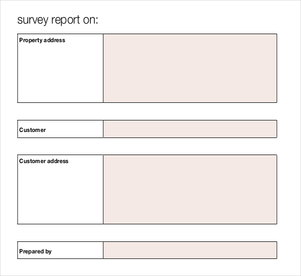 Single Blank Survey Template Free Download
