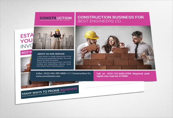 Single Page Construction Brochure Template