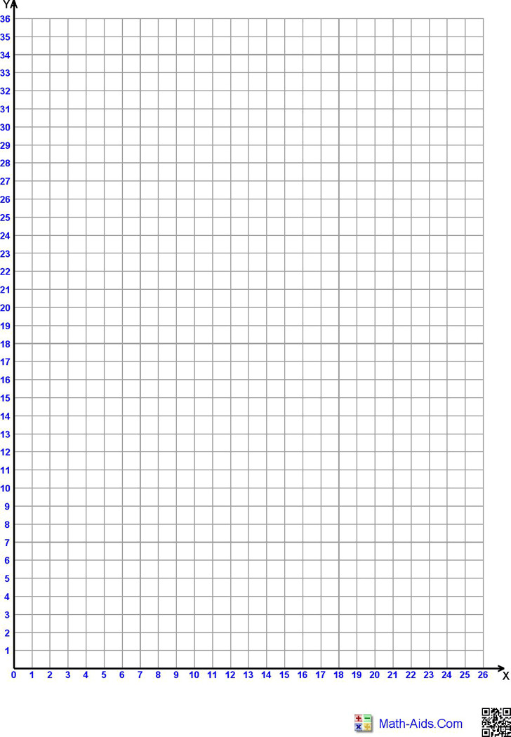 4 graph paper with axis free download