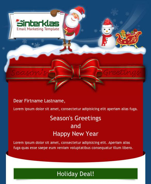 sinterklas new year mobile scalable html email template