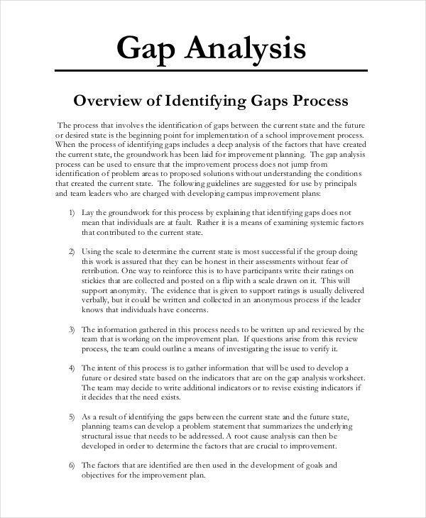 Skills Gap Analysis Word Template Free Download
