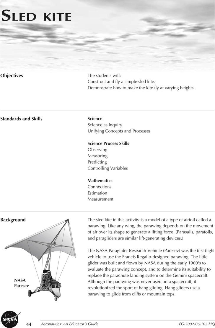 Sled Kite Template