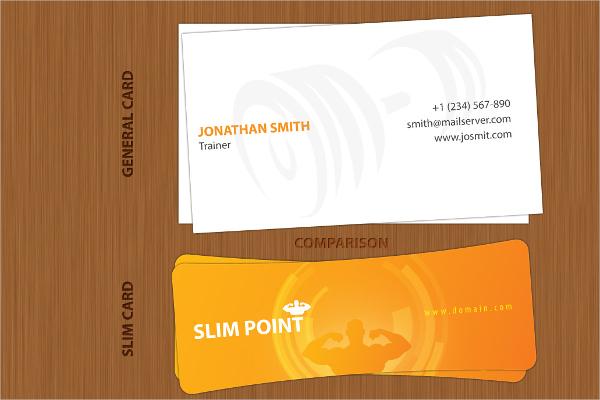 Slim Shape Business Card