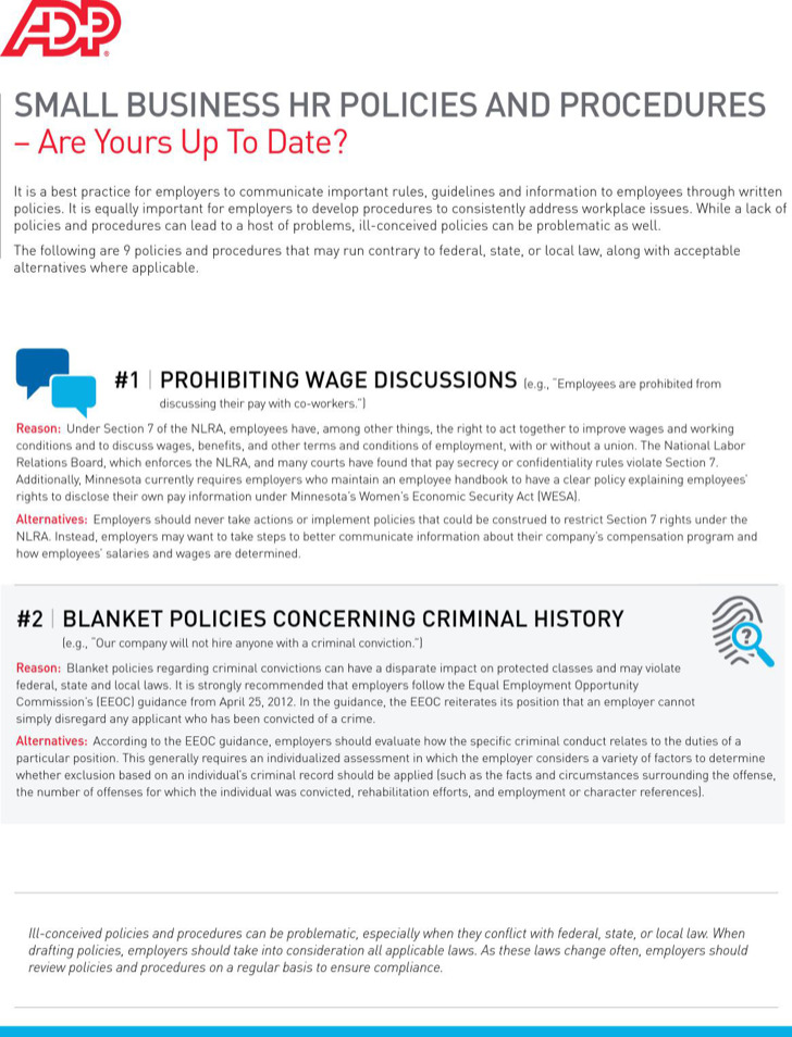 Small Business Hr Policy Template