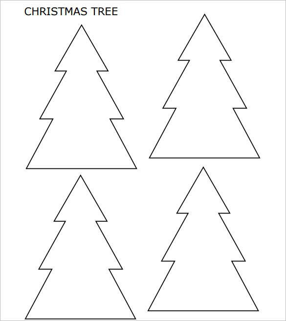 Small Christmas Tree with Pointed Corners