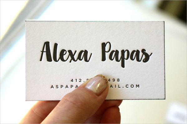 Small Letterpress Business Card