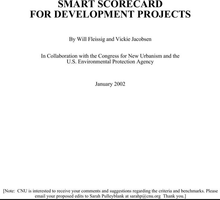 Smart Scorecard For Development Project
