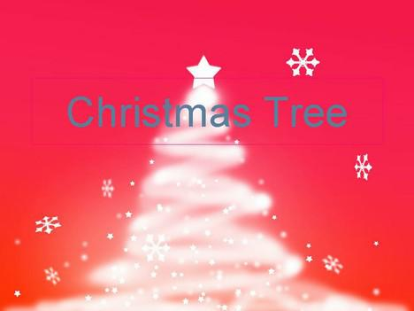 Snow Christmas Tree Template Powerpoint Download