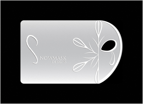 Snowmask Die Card Business Card