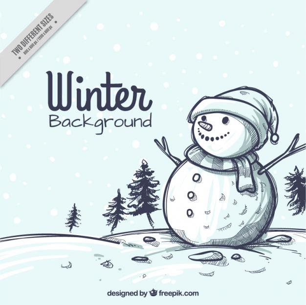 Snowmen Business Facebook Background Template Download