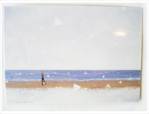 Snowy Beach Blank Postcard