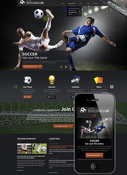 Soccer Responsive Joomla Website Template