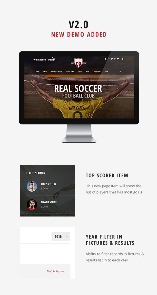 Soccer Responsive WordPress Website Theme