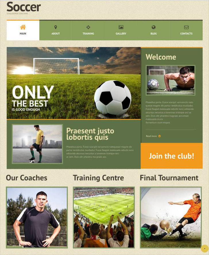 Soccer WordPress Website Theme