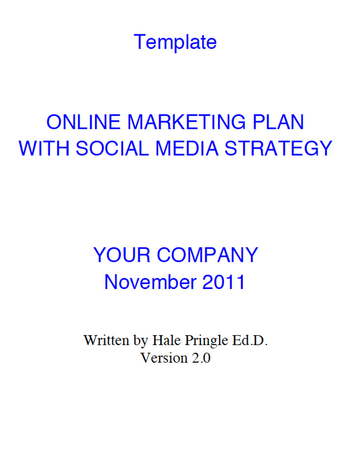 3 social media marketing plan template free download