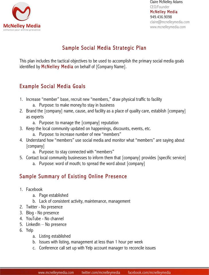 Social Media Strategy Sample