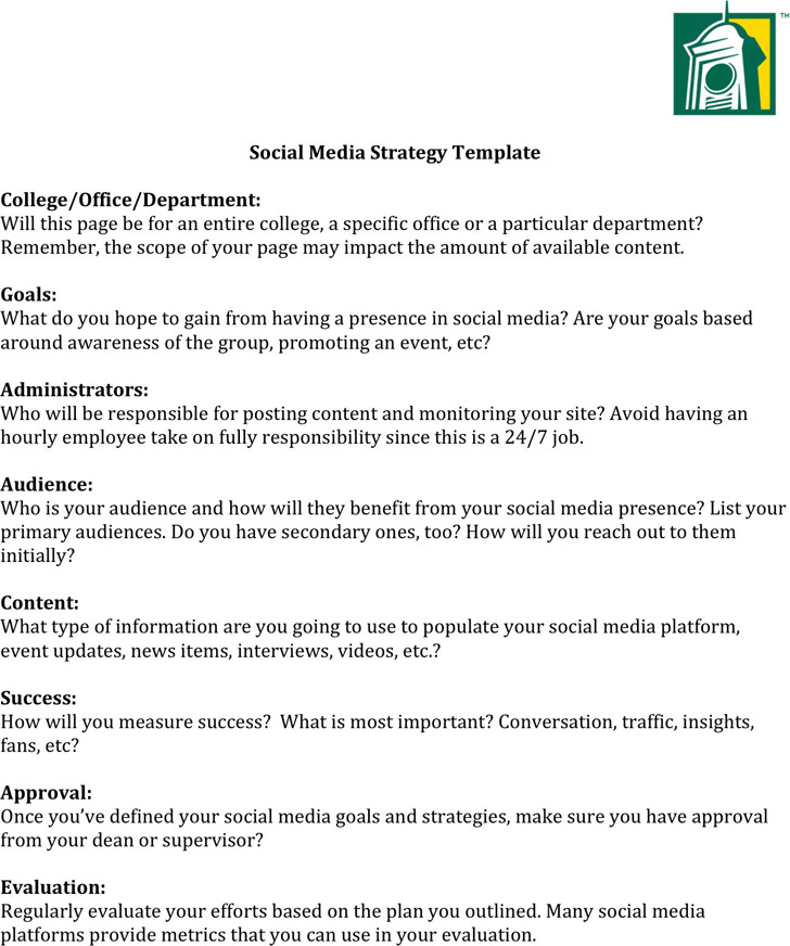 Social Media Strategy Template3