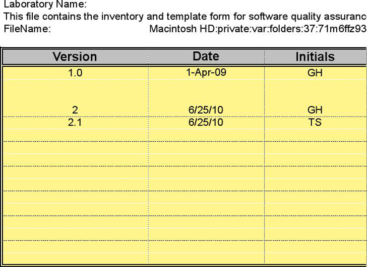 Software Application Inventory Template