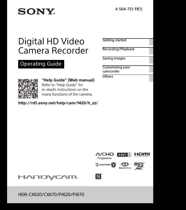 Sony Operating Guide Sample