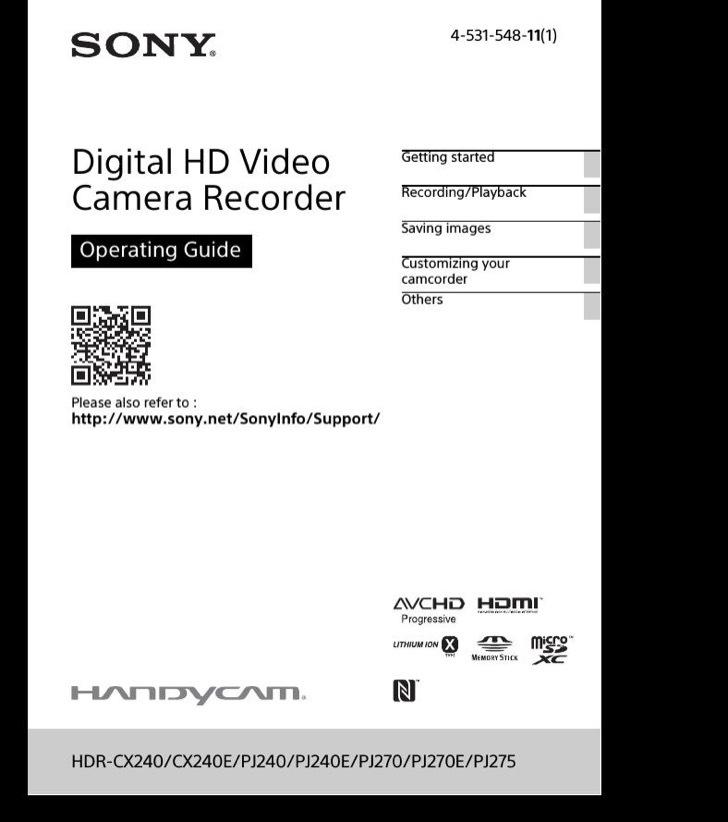 Sony Quick Start Guide Sample