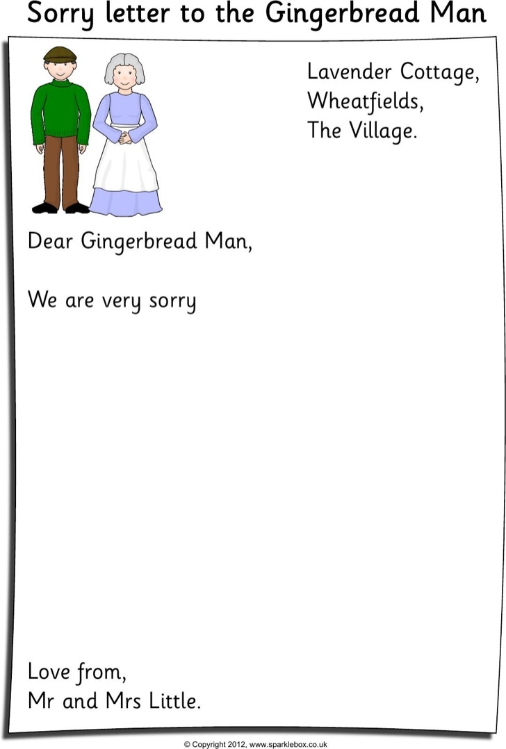 Sorry Letter For Kids Pdf