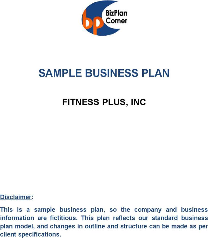 Spa Health Club Business Plan