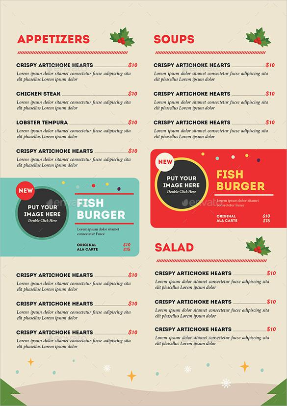 Special Christmas Menu Template Download