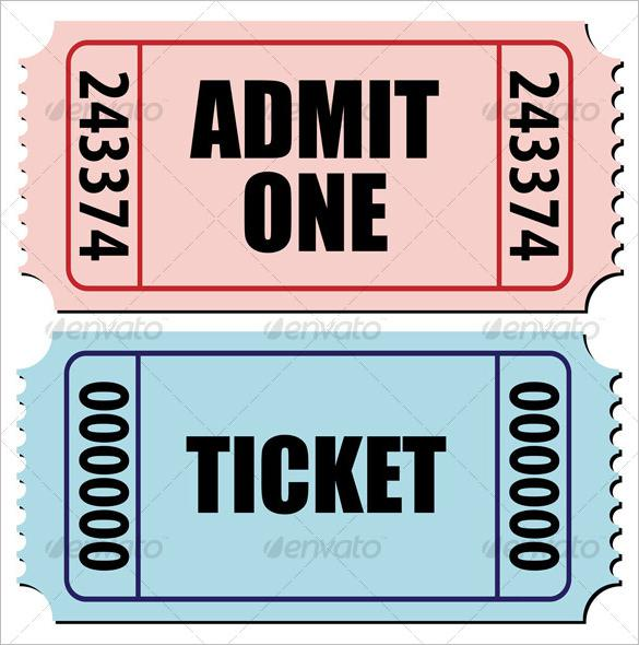 Sports Activity Blank Editable Ticket