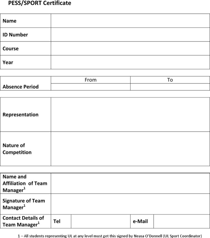 Sports Certificate Template Free Download