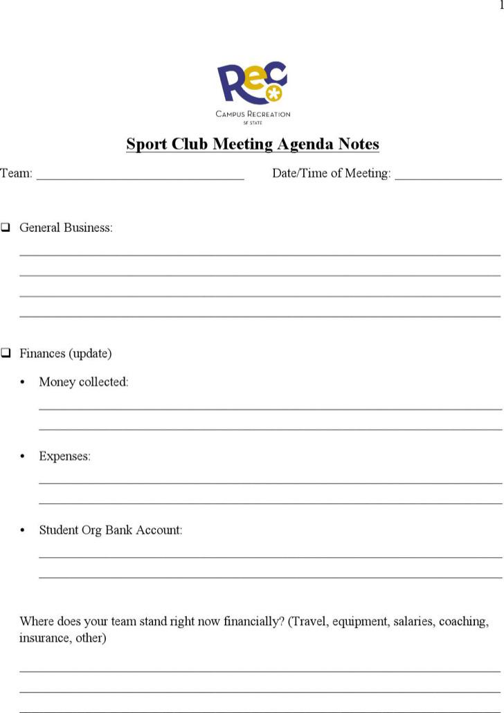 7  club meeting agenda templates free download