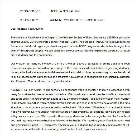 Sports Sponsorship Proposal Word Download