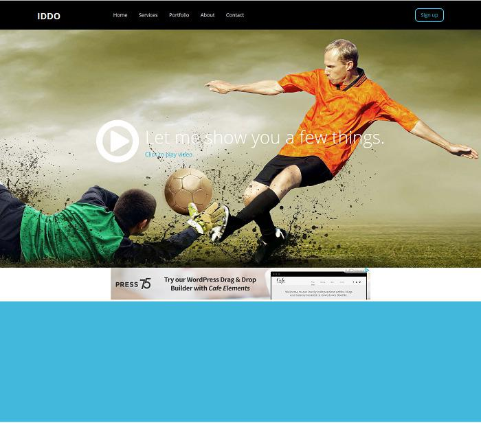 Sporty HTML5 Website Template