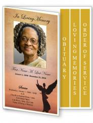 Spring Garden Obituary Program Template