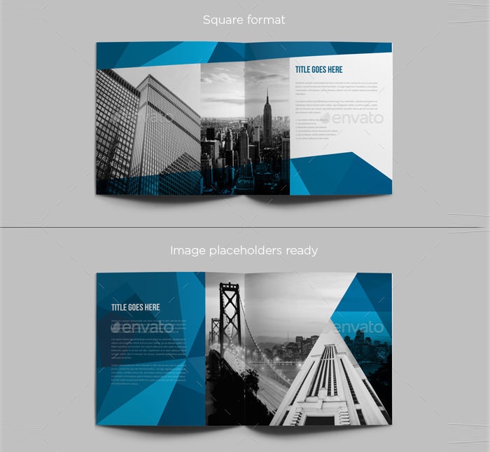 Square Abstract Architecture Brochure
