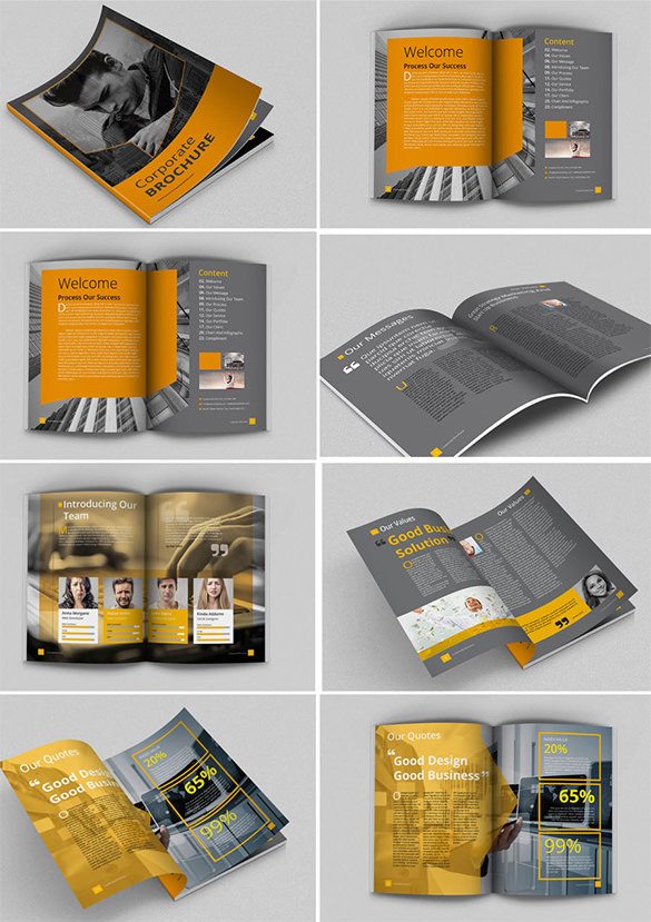 Standard Brochure Size Corporate Multipurpose - $12