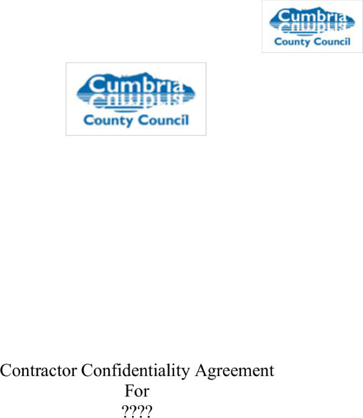 Standard Contractor Confidentiality Agreement Sample