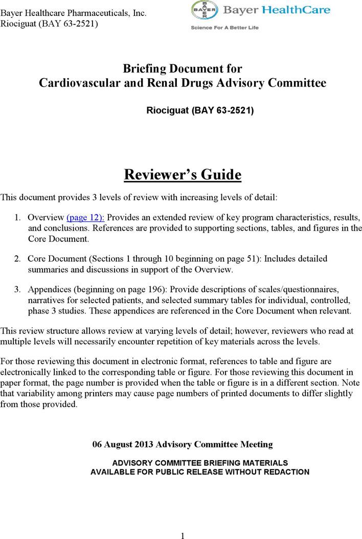 Standard Investigator's Brochure Format