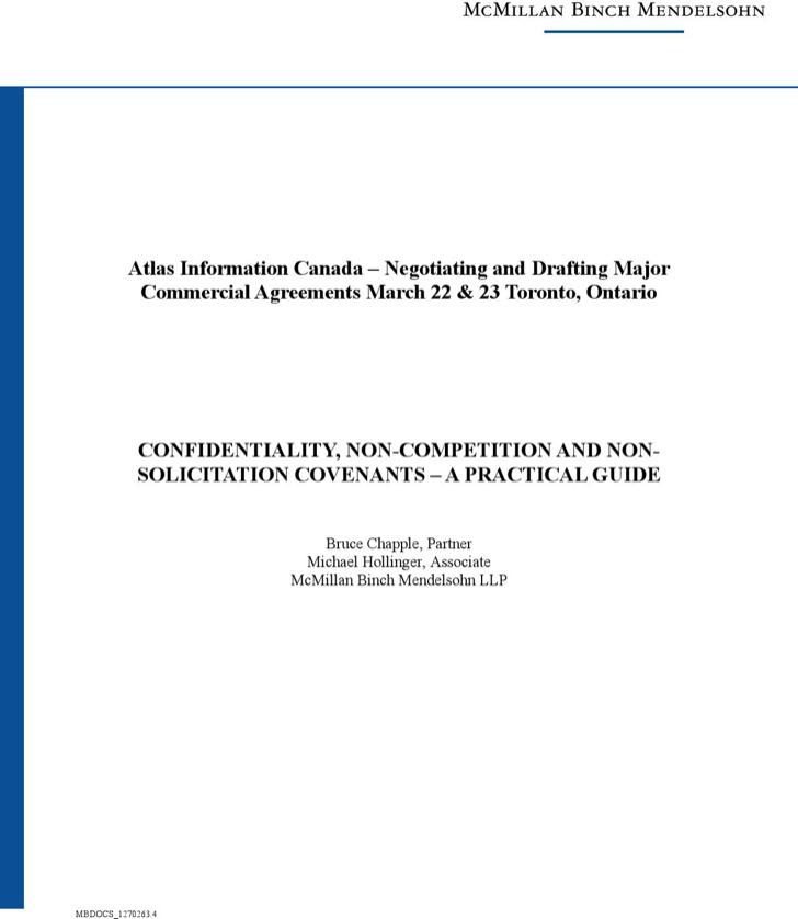 Standard Non Compete Agreement 1