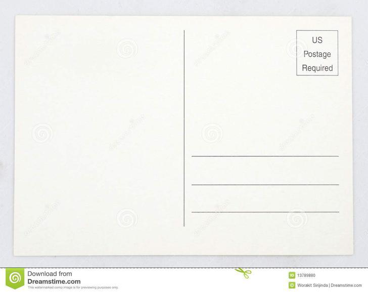 Standard Postcard Template